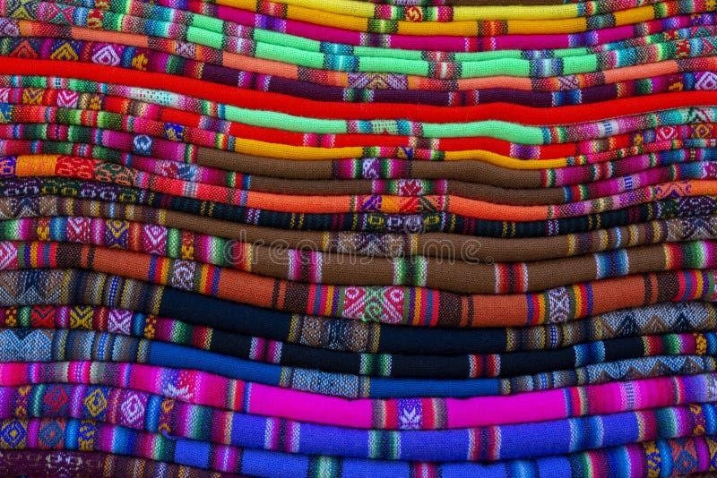Pilha de coberturas bolivianas imagem de stock