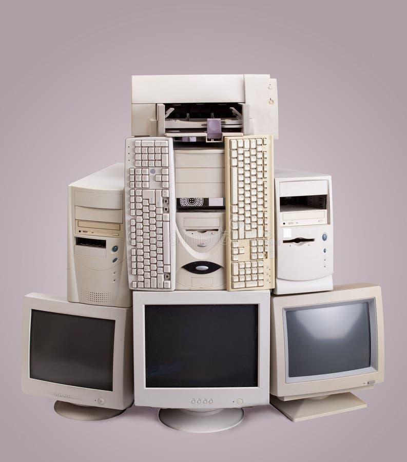 Pilha de computador velho foto de stock royalty free