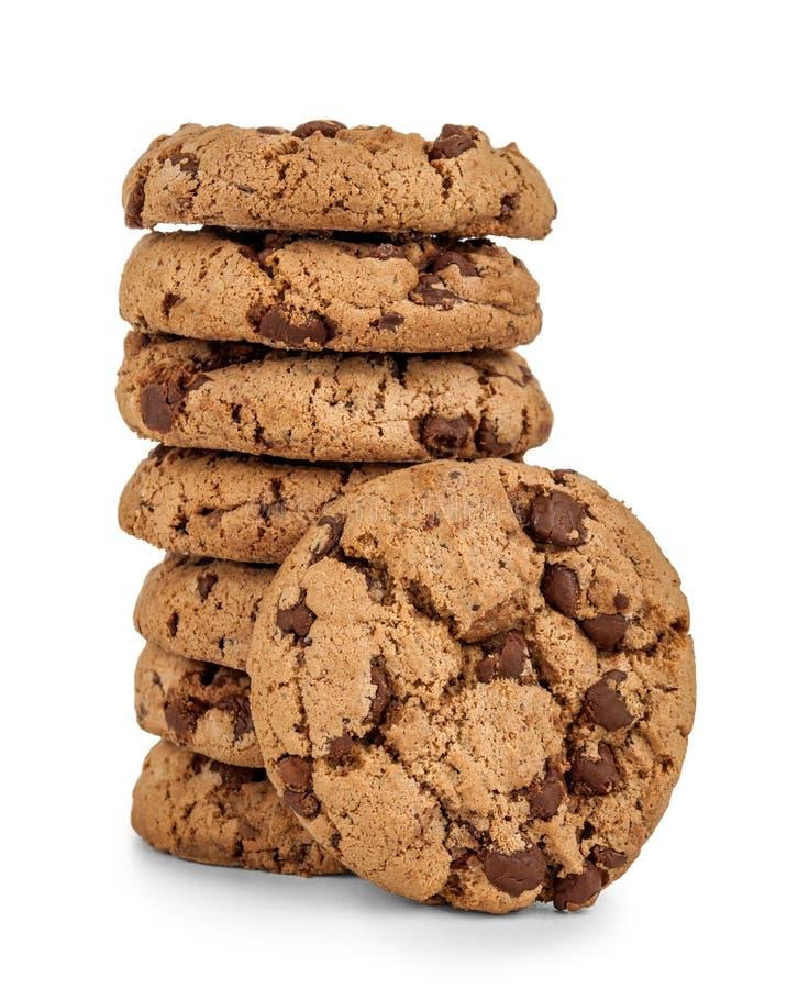 Pilha de cookies da microplaqueta do hocolate do  de Ñ imagem de stock