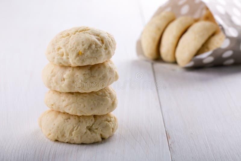 Pilha de cookies do limão imagem de stock