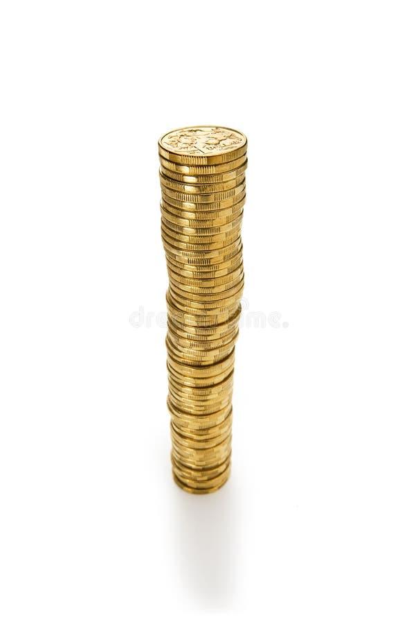 Pilha de dólares australianos fotografia de stock