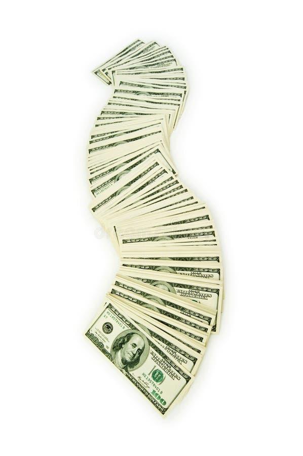 Download Pilha de dólares isolados imagem de stock. Imagem de finanças - 12813645