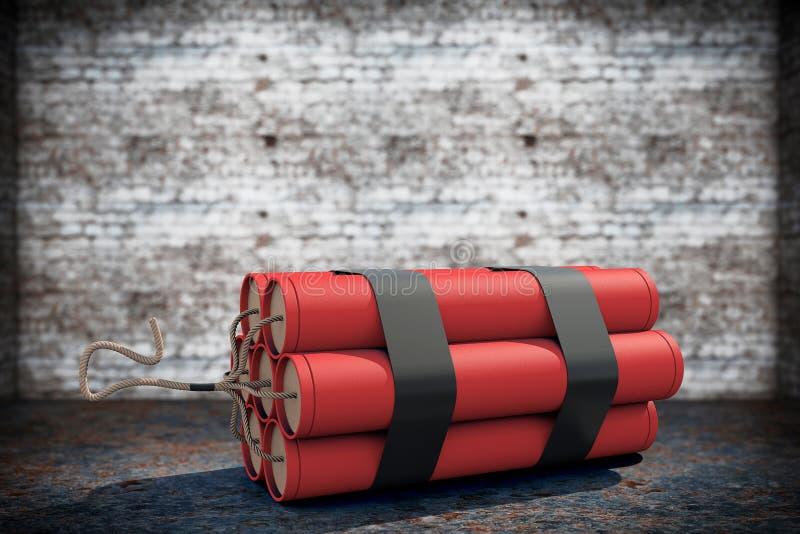 Pilha de dinamite vermelha ilustração royalty free