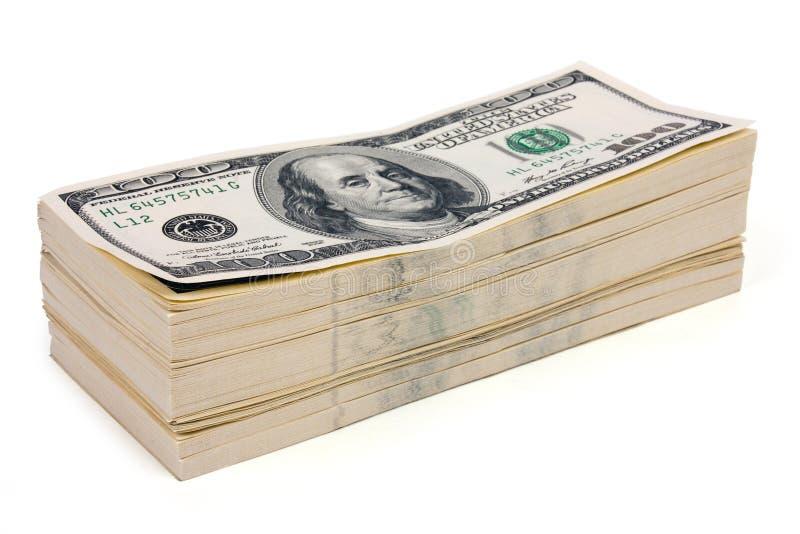 Pilha de dinheiro foto de stock