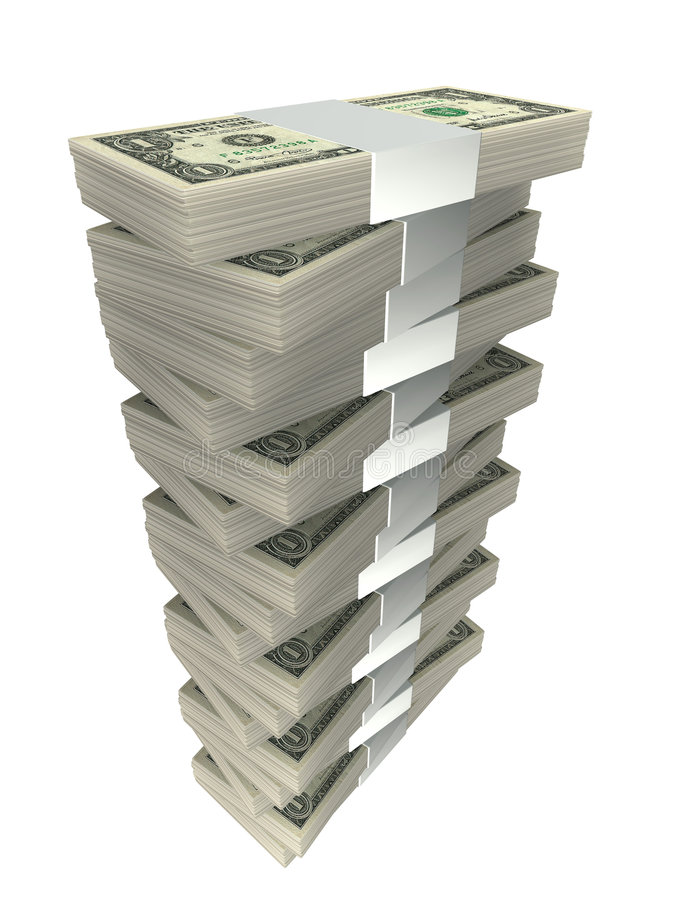 Pilha de dinheiro ilustração do vetor