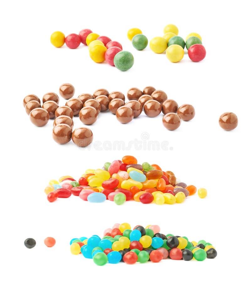 Pilha de doces múltiplos do feijão de geleia fotos de stock