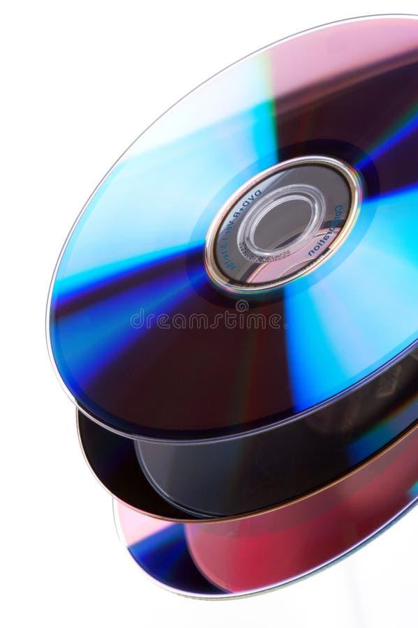 Pilha de DVD imagens de stock