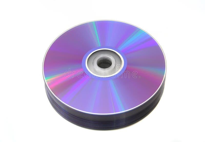 Pilha de DVD fotografia de stock royalty free