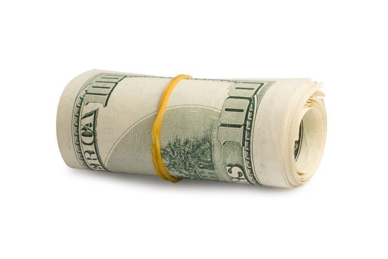 Pilha de E.U. cem contas de dólar fotografia de stock royalty free