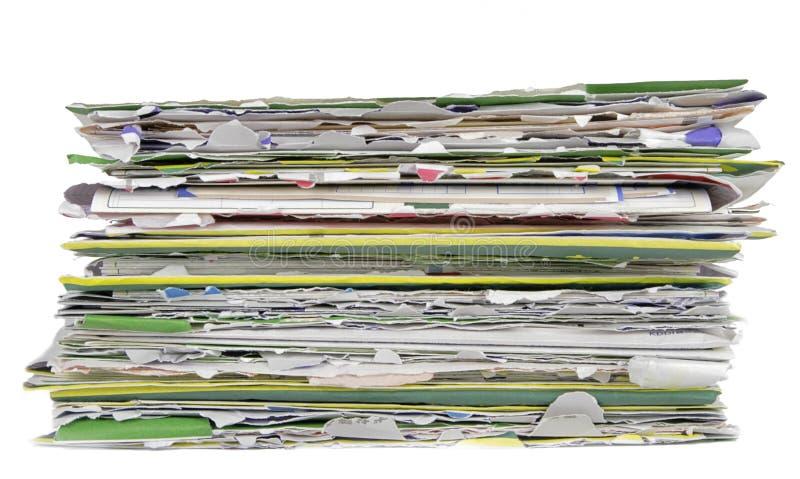 Pilha de envelopes abertos fotografia de stock
