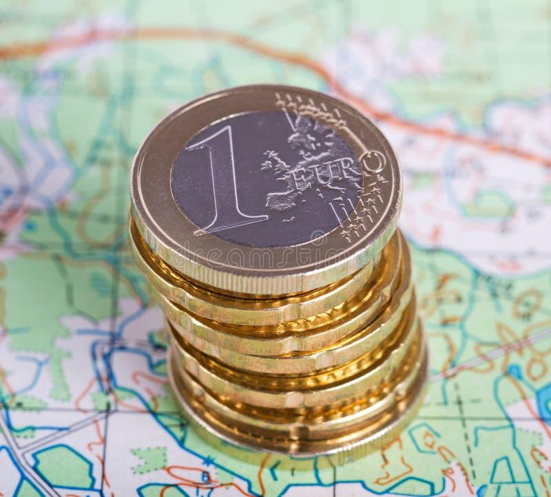 Pilha de euro- dinheiro imagem de stock