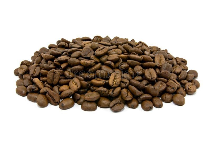 Pilha de feijões de café roasted foto de stock