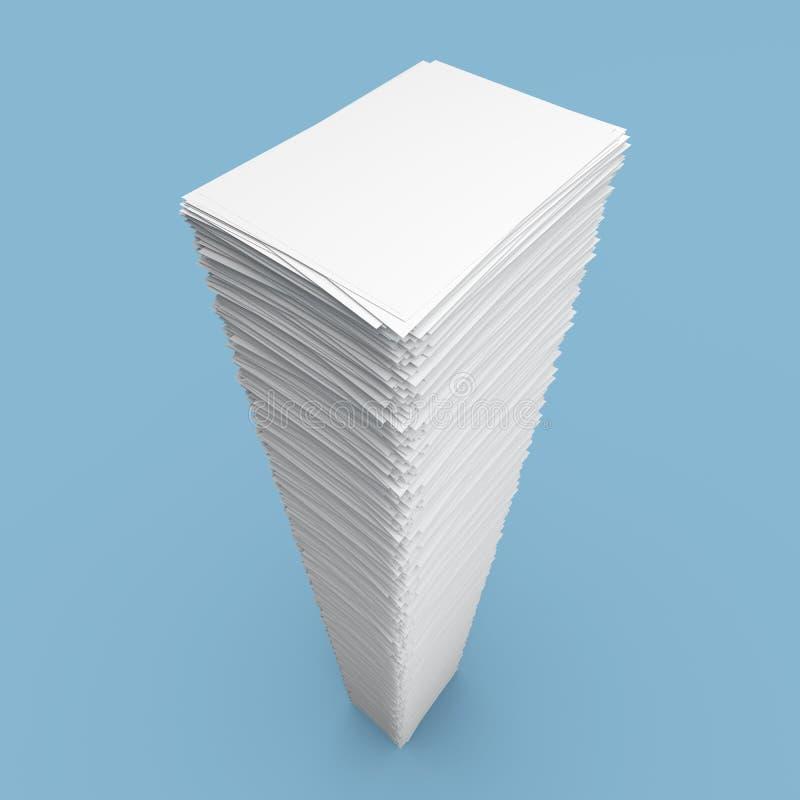 Pilha de folhas do Livro Branco ilustração royalty free