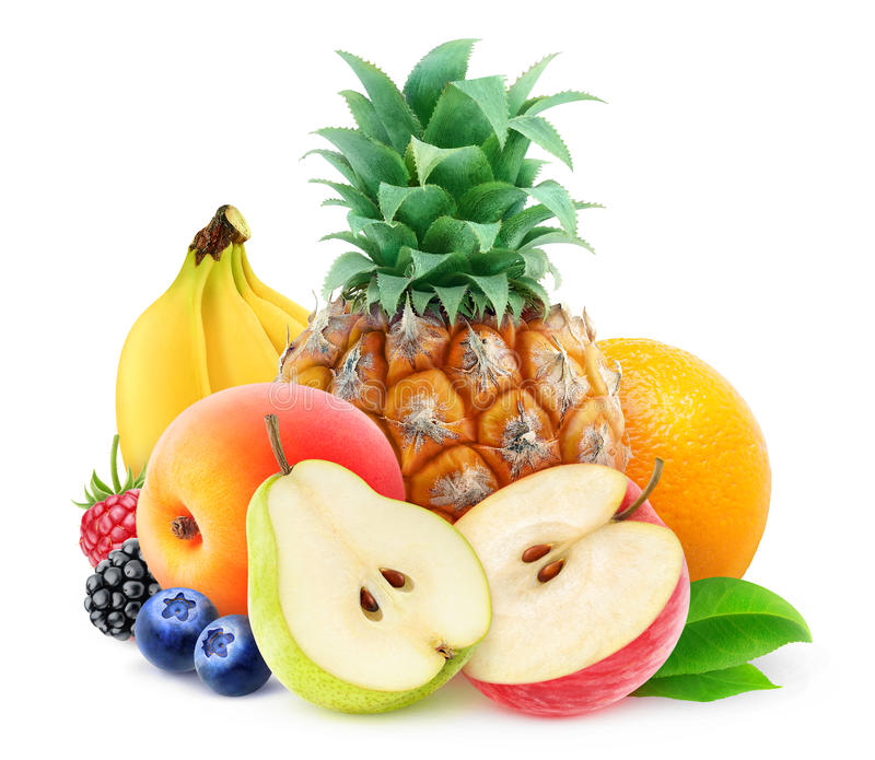 Pilha de frutas frescas fotos de stock royalty free