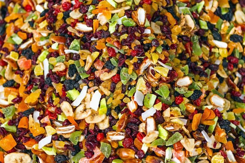 Pilha de frutos secos aromáticos fotografia de stock