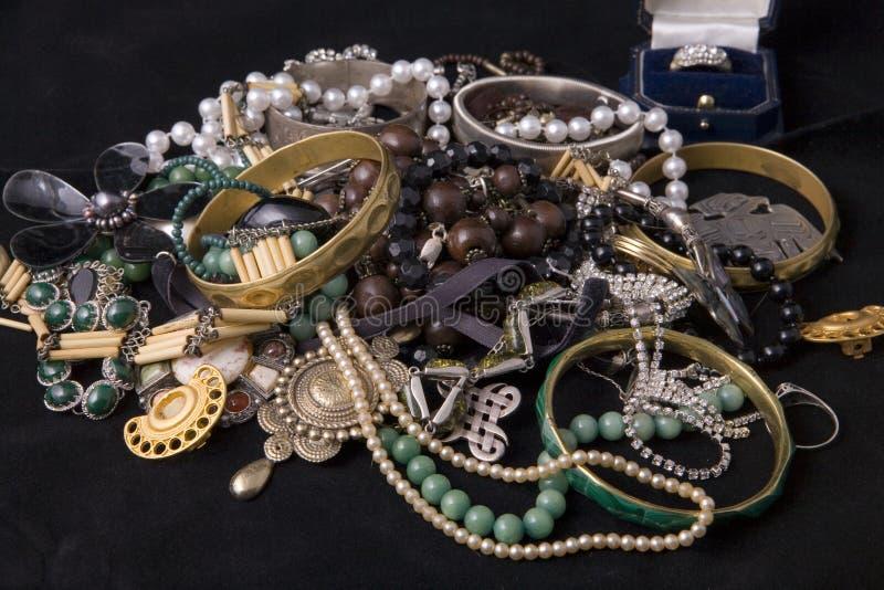 Pilha de jóias fotografia de stock