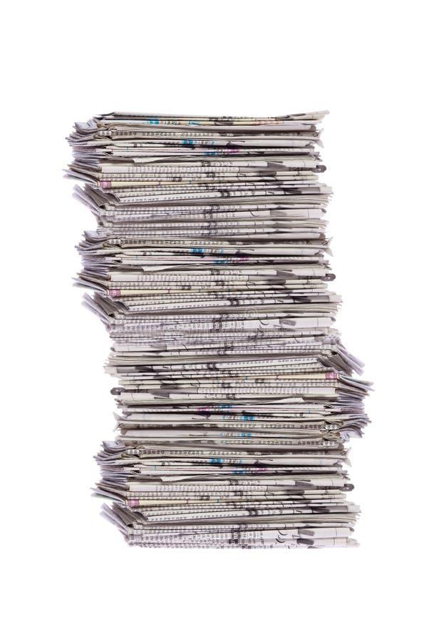 Pilha de jornais imagem de stock