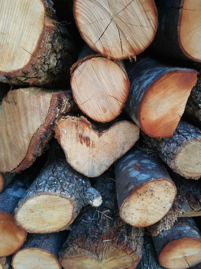 Pilha de lenha para fogão, lareira. Fundo Firewood. Textura de madeira fotos de stock royalty free