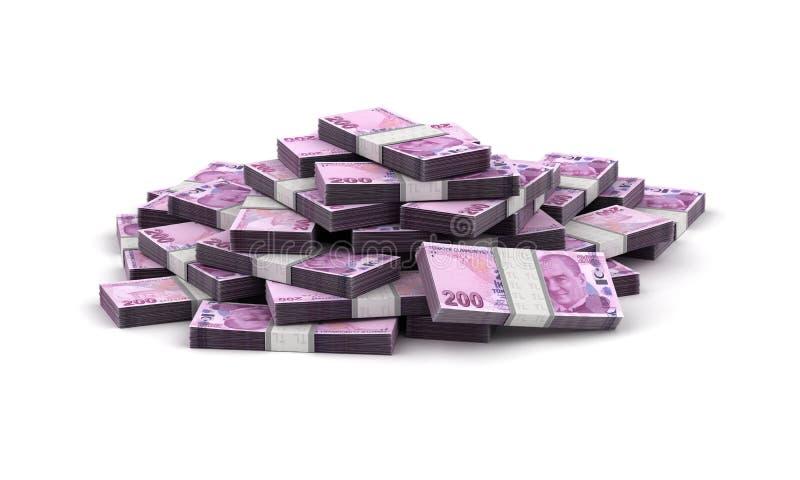 Pilha de lira turca ilustração do vetor