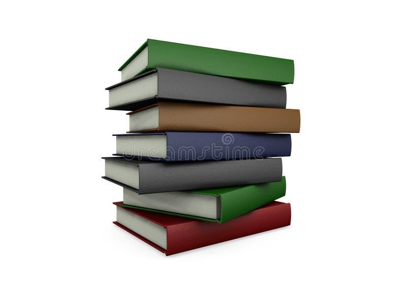 Pilha de livros ilustração stock