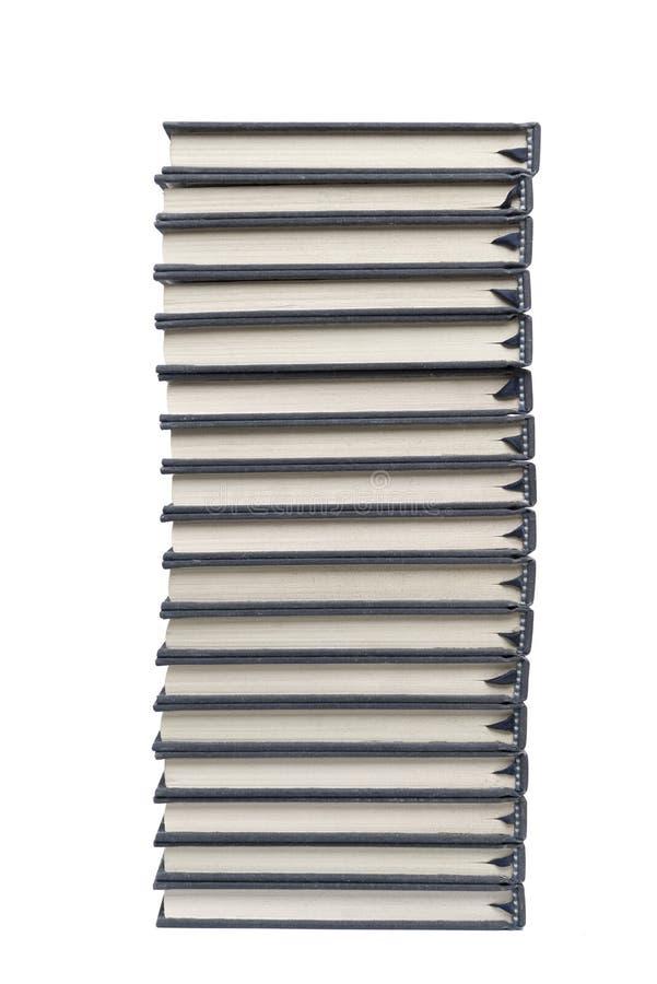 Pilha de livros de capa dura isolados no fundo branco foto de stock