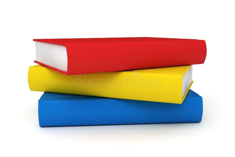 Pilha de livros de escola ilustração stock