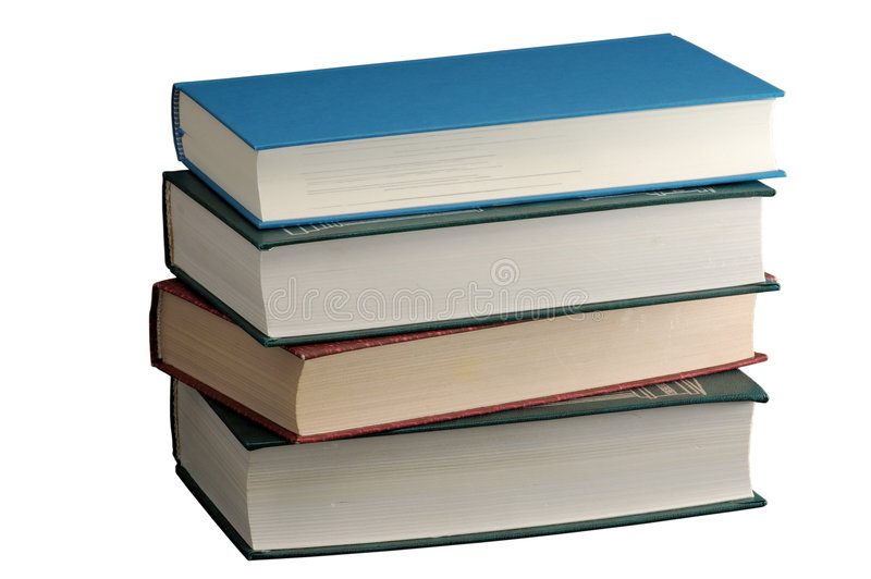 Pilha de livros de hardcover isolados no branco fotografia de stock royalty free