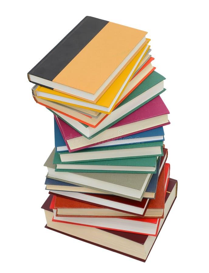 Pilha de livros elevada fotografia de stock