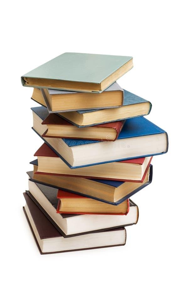 Pilha de livros isolados imagem de stock