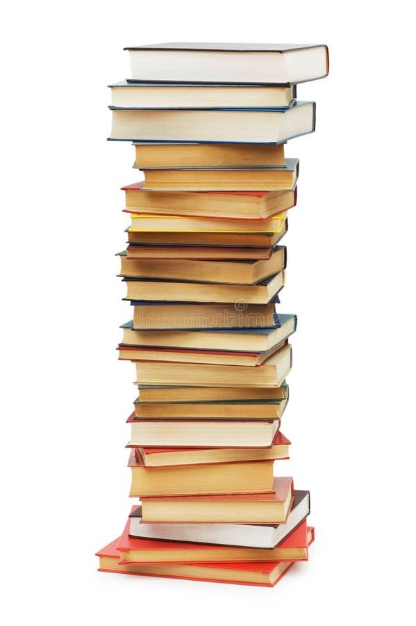 A pilha de livros isolou-se fotografia de stock royalty free