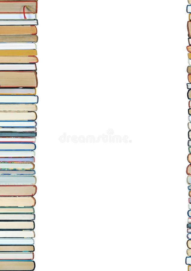 Pilha de livros no fundo branco fotografia de stock royalty free