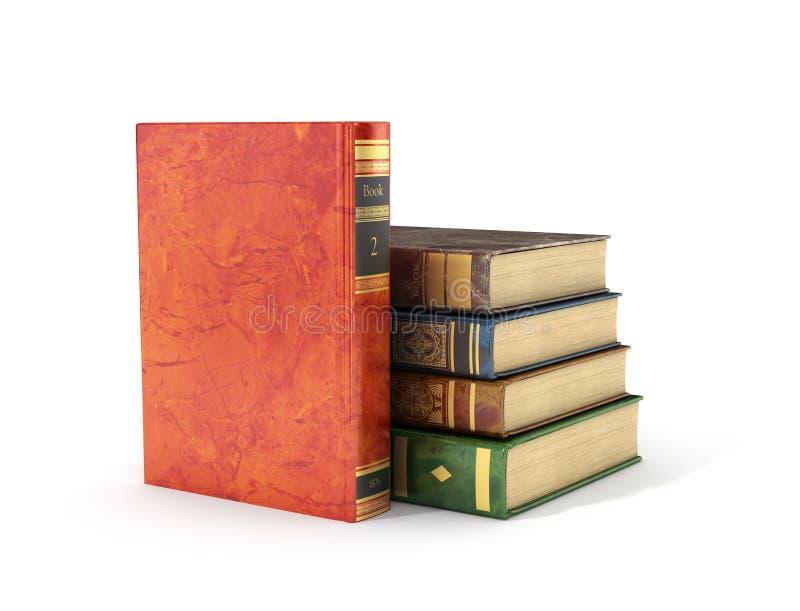 Pilha de livros velhos ilustração royalty free
