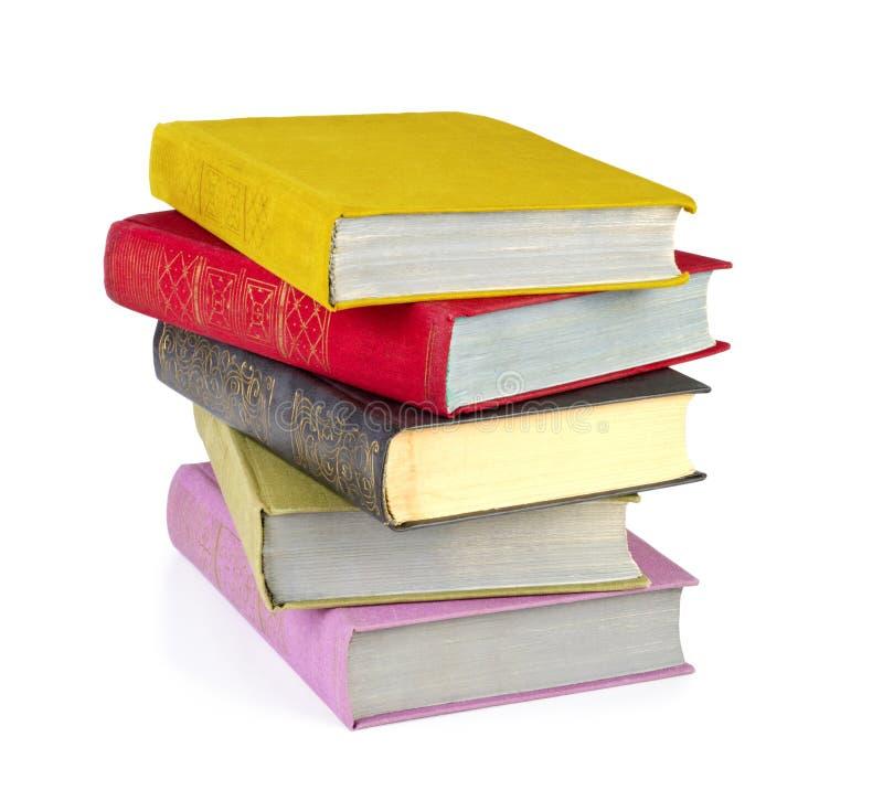 Pilha de livros velhos isolados foto de stock royalty free