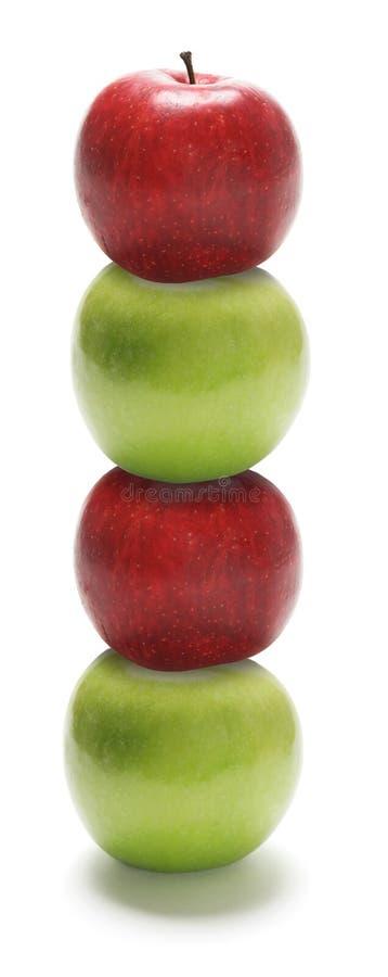 Pilha de maçãs imagens de stock royalty free