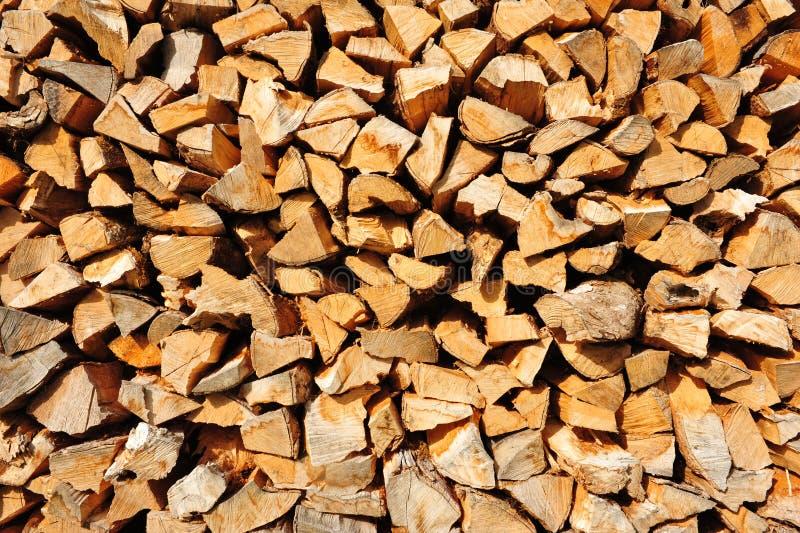 Pilha de madeira foto de stock