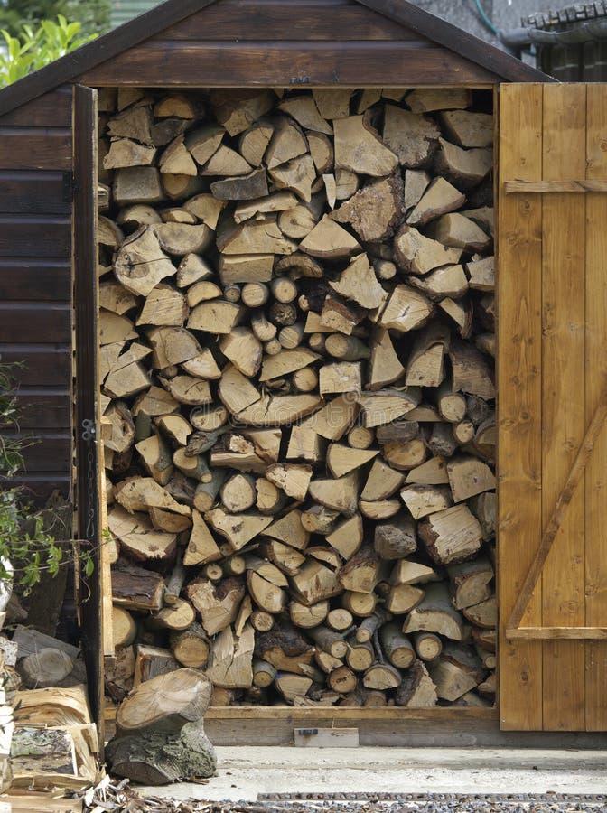 Pilha de madeira. imagens de stock royalty free
