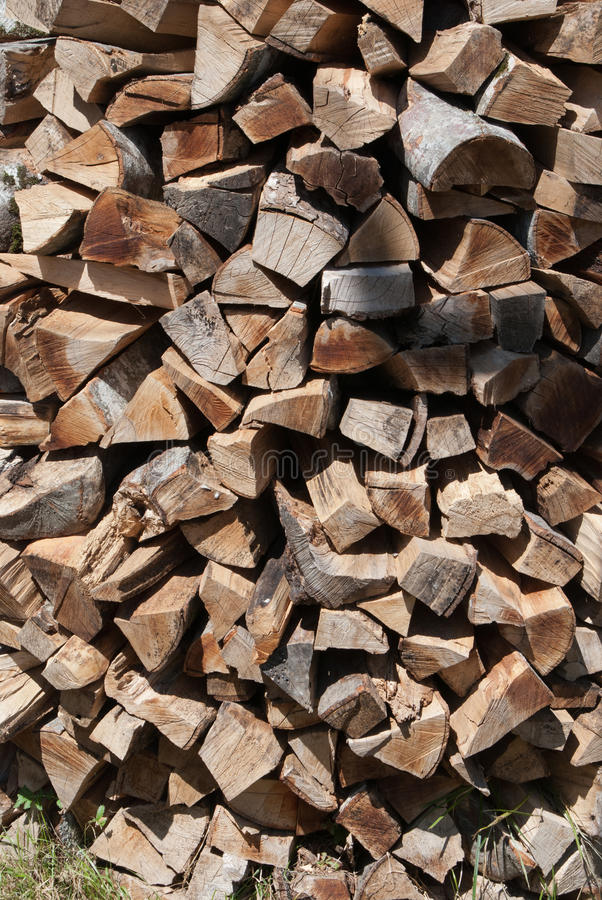 Pilha de madeira do despedimento imagens de stock royalty free