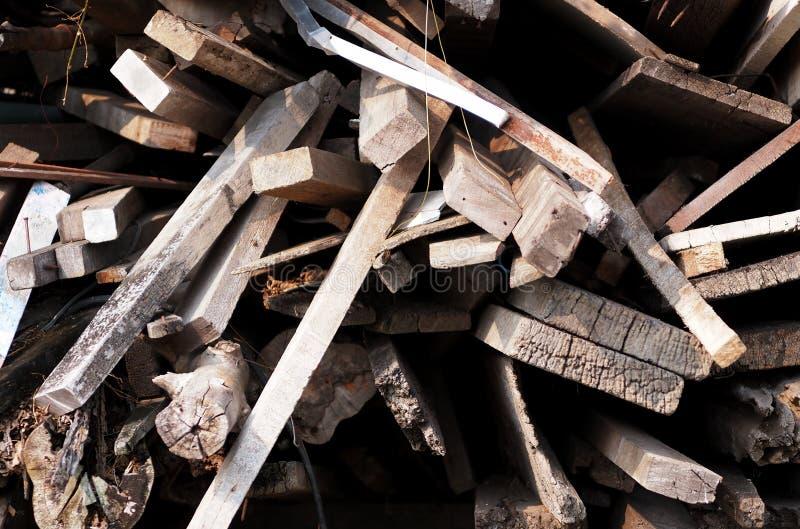 Pilha de madeira velha fotos de stock royalty free