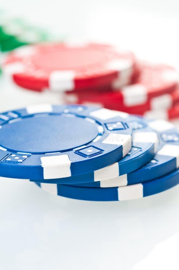 Pilha de microplaquetas de póquer foto de stock royalty free