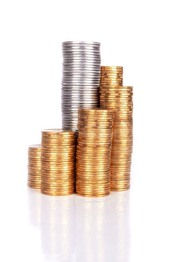 Pilha de moedas fotos de stock royalty free