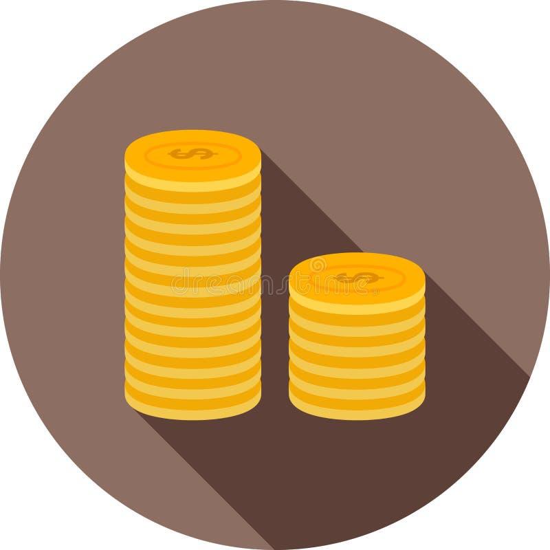 Pilha de moedas ilustração stock