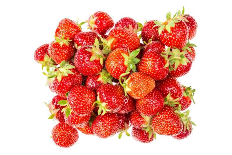 Pilha de morangos frescas e saborosos imagem de stock royalty free