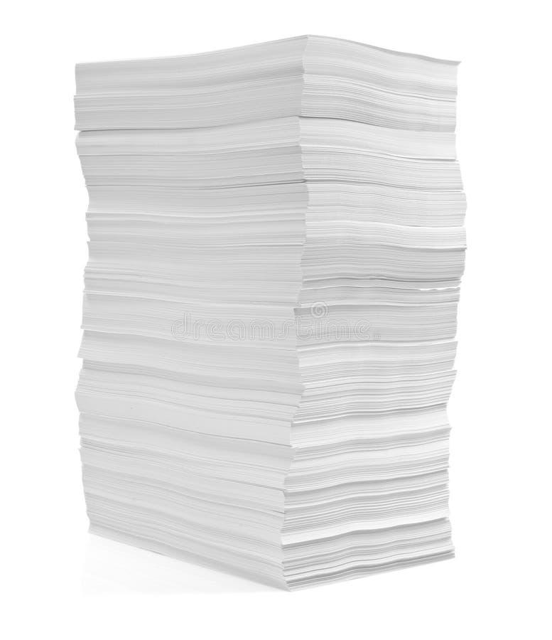 Pilha de negócio do escritório dos originais de papéis imagem de stock royalty free