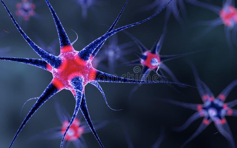 Pilha de nervo que pulsa com luzes vermelhas ilustração royalty free