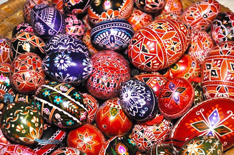 Pilha de ovos de Easter fotografia de stock royalty free