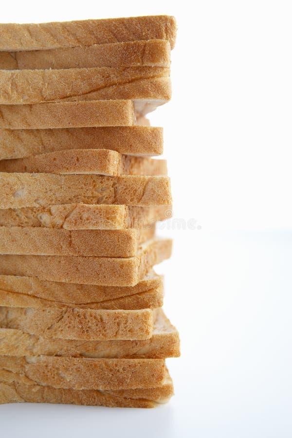 Pilha de pão cortado fotografia de stock