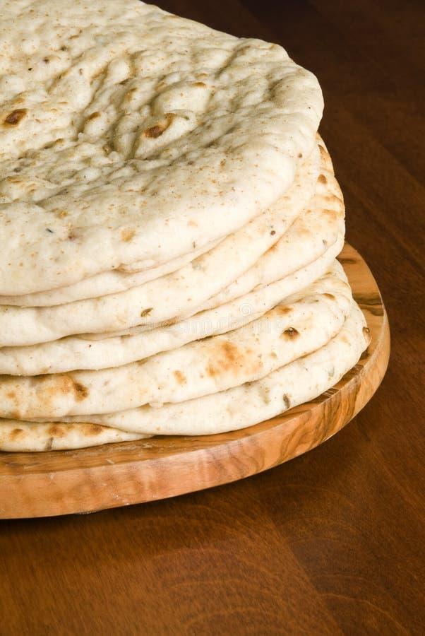 Pilha de pão de Pita fotografia de stock royalty free