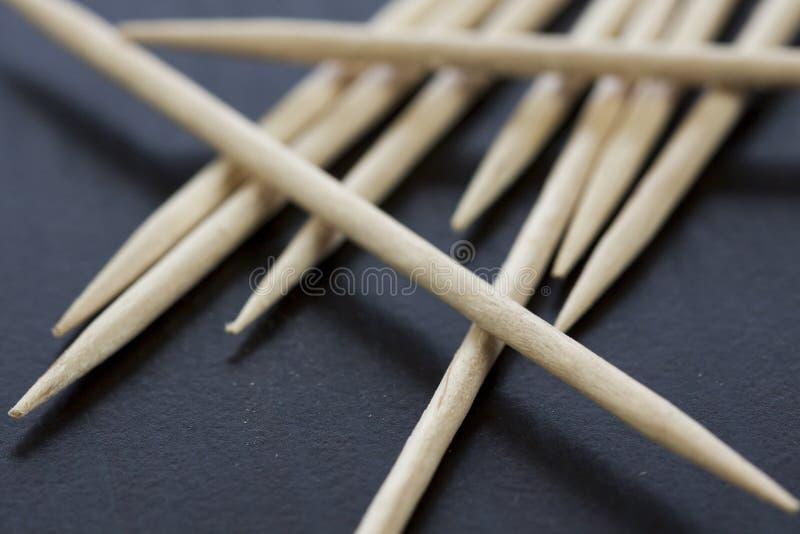 Pilha de palitos de madeira fotografia de stock
