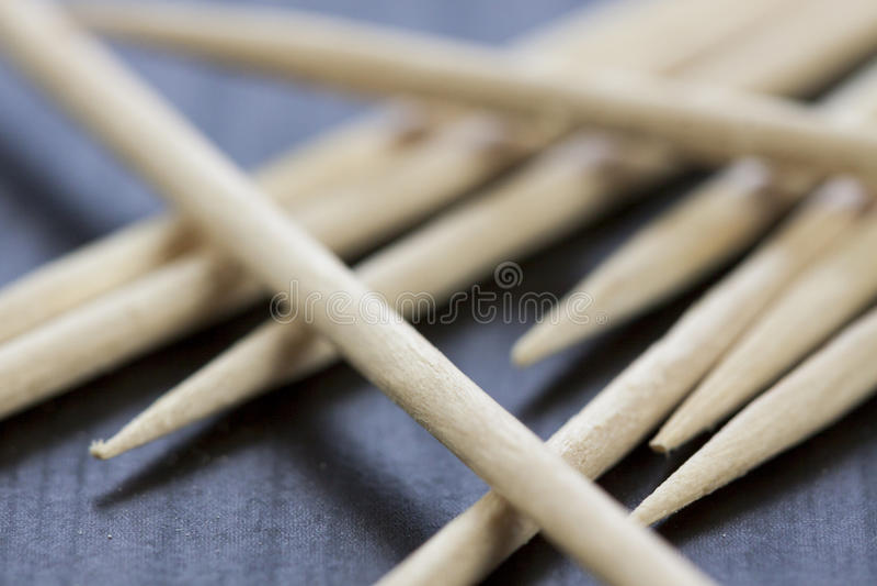 Pilha de palitos de madeira foto de stock
