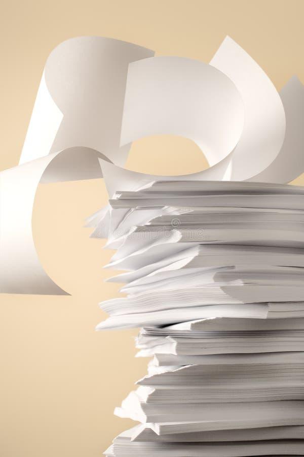 Pilha de papéis imagens de stock royalty free